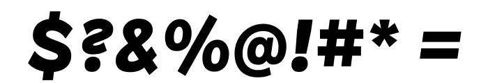 Patron BlackItalic Font OTHER CHARS