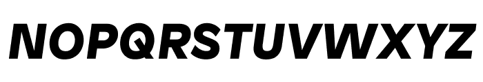 Patron BlackItalic Font UPPERCASE