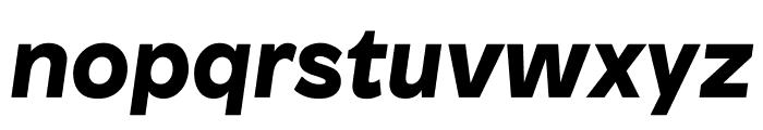 Patron BlackItalic Font LOWERCASE