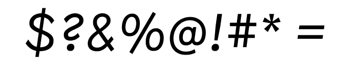 Patron LightItalic Font OTHER CHARS