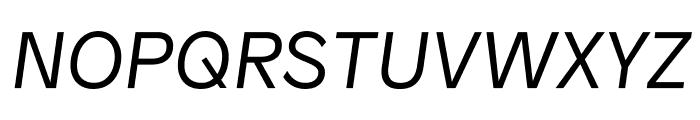 Patron LightItalic Font UPPERCASE