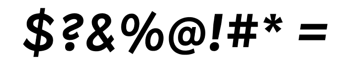 Patron MediumItalic Font OTHER CHARS