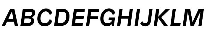 Patron MediumItalic Font UPPERCASE