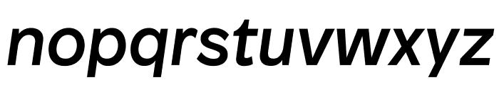 Patron MediumItalic Font LOWERCASE