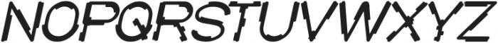 MICK JAGGED Bold Italic otf (700) Font UPPERCASE
