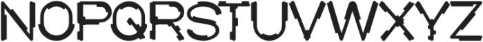 MICK JAGGED Bold otf (700) Font UPPERCASE