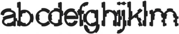 MICK JAGGED Bold otf (700) Font LOWERCASE