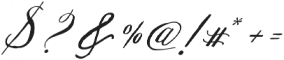 Michaela Script otf (400) Font OTHER CHARS