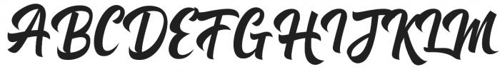 Michail Script  Regular otf (400) Font UPPERCASE