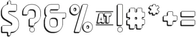 Michelangelo Outline01 otf (400) Font OTHER CHARS