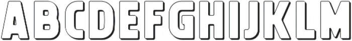 Michelangelo Outline02 otf (400) Font LOWERCASE