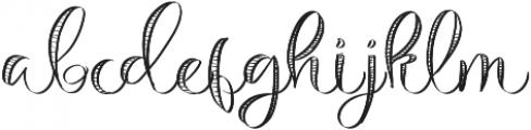 Michelle Handlettering Medium otf (500) Font LOWERCASE