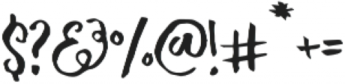Michelle Regular otf (400) Font OTHER CHARS