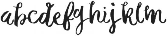 Michelle Regular otf (400) Font LOWERCASE