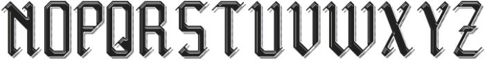 Midieval TextureAndShadow otf (400) Font UPPERCASE