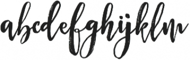 Midnight otf (400) Font LOWERCASE