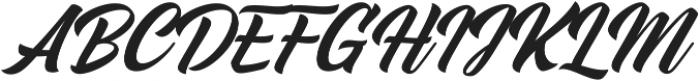 Midtown Script otf (400) Font UPPERCASE