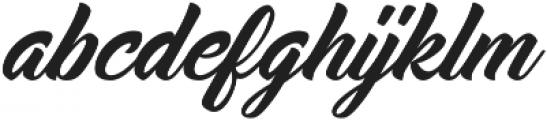 Midtown Script otf (400) Font LOWERCASE