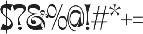 Migaela Overlap otf (400) Font OTHER CHARS