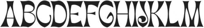 Migaela Overlap otf (400) Font UPPERCASE