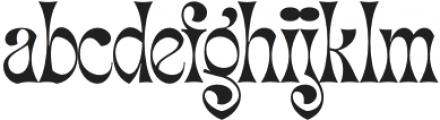 Migaela Overlap otf (400) Font LOWERCASE
