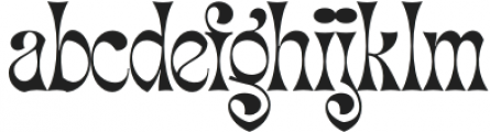 Migaela-Regular otf (400) Font LOWERCASE