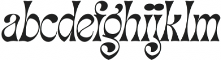 Migaela Smooth Oblique otf (400) Font LOWERCASE
