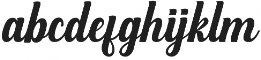 Mighttel otf (400) Font LOWERCASE