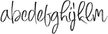 Mighty Girl otf (400) Font LOWERCASE
