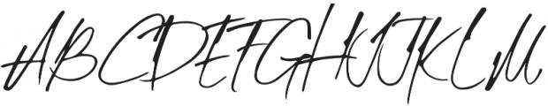 Mihawk otf (400) Font UPPERCASE