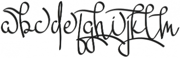 Mikaela Alt otf (400) Font LOWERCASE