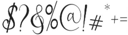 Mikayla Regular otf (400) Font OTHER CHARS