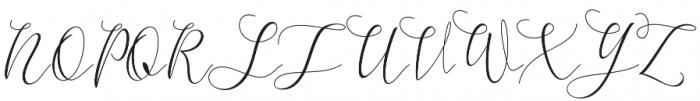 Mikayla Regular otf (400) Font UPPERCASE