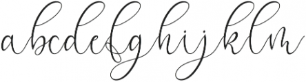 Mikayla Regular otf (400) Font LOWERCASE