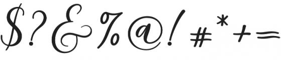 Milady otf (400) Font OTHER CHARS