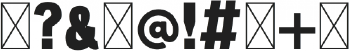 Milan Stencil Regular otf (400) Font OTHER CHARS