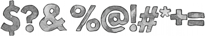 Mild Life Textured otf (400) Font OTHER CHARS