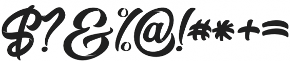 Miliki otf (400) Font OTHER CHARS