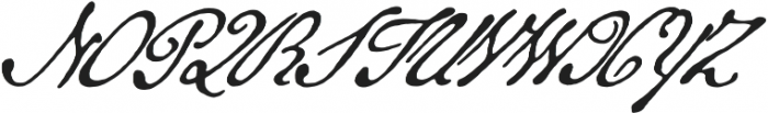 Military Scribe otf (400) Font UPPERCASE