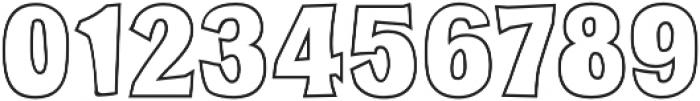 Milk Barn Outline otf (400) Font OTHER CHARS
