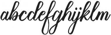 Milk Child Regular otf (400) Font LOWERCASE