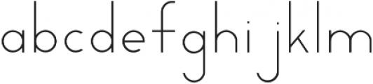 Milk otf (300) Font LOWERCASE