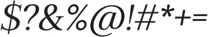 Millard Regular Italic otf (400) Font OTHER CHARS