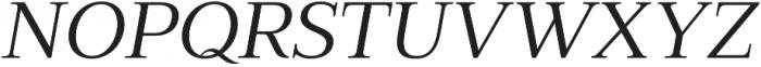 Millard Regular Italic otf (400) Font UPPERCASE