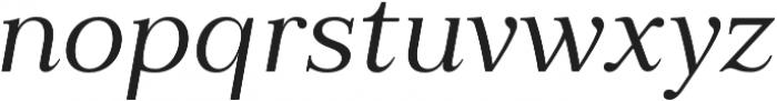 Millard Regular Italic otf (400) Font LOWERCASE