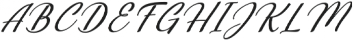Millenial Italic Italic otf (400) Font UPPERCASE