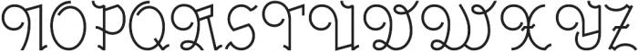 Millennium Regular otf (400) Font UPPERCASE