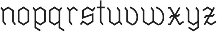Millennium Regular otf (400) Font LOWERCASE