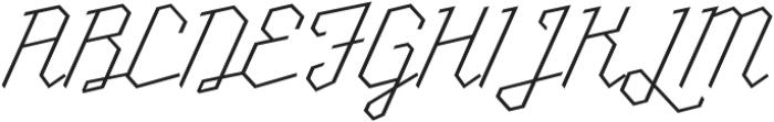 Millie Thin otf (100) Font UPPERCASE