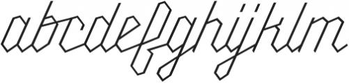 Millie Thin otf (100) Font LOWERCASE